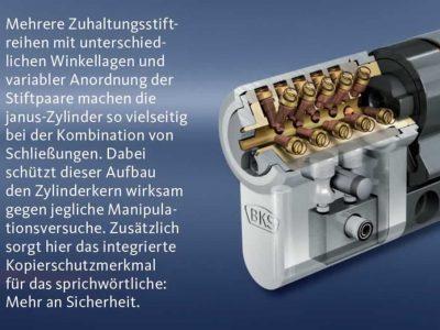 BKS Janus Schließzylinder, Zuhaltungsstiftreihen