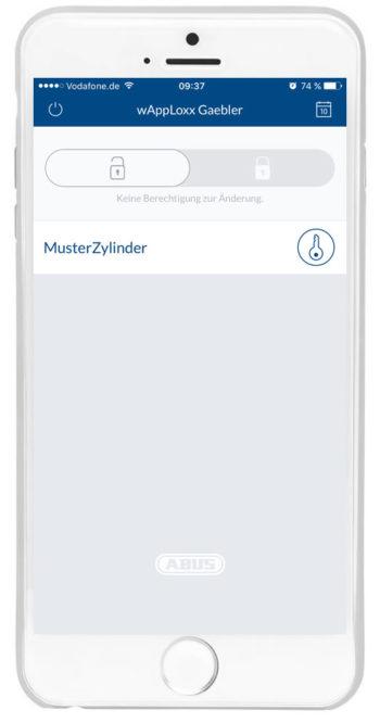 wAppLoxx - Benutzeroberfläche Zugriff