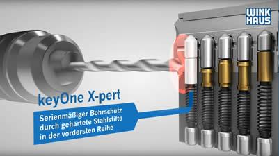 Profilzylinder mit Ausbohrschutz für Gehäuse und Kern