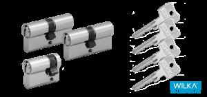 Wilka Schließzylinder Set mit mehreren Schlüssel
