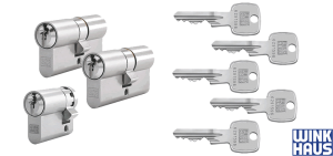 Winkhaus Schließzylinder Set mit mehreren Schlüsseln