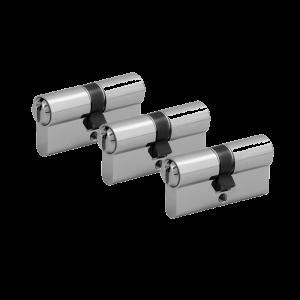 3er Zylinder-Set WILKA (3 Schließzylinder)