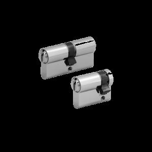 2er Zylinder-Set WILKA (1 Schließzylinder & 1 Halbzylinder)