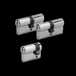 3er Zylinder-Set WILKA (2 Schließzylinder & 1 Halbzylinder)