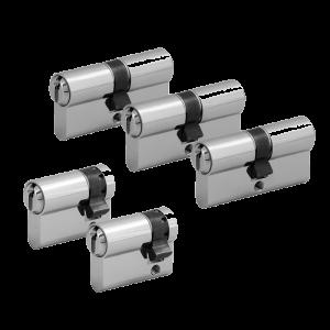 5er Zylinder-Set WILKA (3 Schließzylinder & 2 Halbzylinder)
