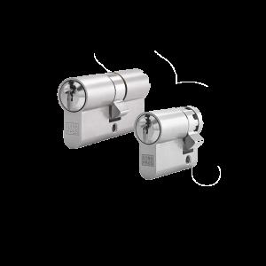 2er Zylinder-Set WINKHAUS (1 Schließzylinder & 1 Halbzylinder)