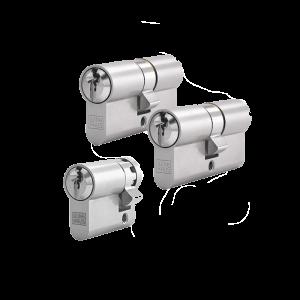 3er Zylinder-Set WINKHAUS (2 Schließzylinder & 1 Halbzylinder)