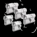 5er Zylinder-Set WINKHAUS (3 Schließzylinder & 2 Halbzylinder)